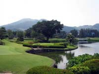 Phuket courses often feature lakes with a backdrop of steep hills