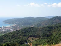 Phuket geography, forested hills, rocky headlands, stunning beaches and urbanised plains