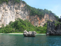 Koh Horng also has secluded beaches and good snorkelling