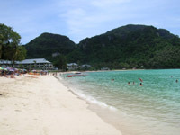 Koh Phi Phi's sheltered bays are perfect for swimming