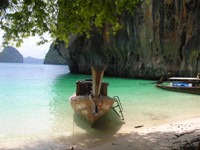 Krabi Bay - park up your longtail and relax on a secluded beach or go snorkelling