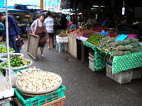 Downtown fresh food market - Ranong Road, Phuket Town