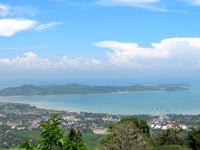 View from Phuket Big Buddha across Chalong Bay and Cape Panwa