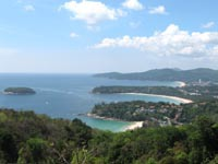 Kata Viewpoint across Kata Noi, Kata Beach and Karon Beach
