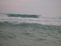 The rainy season waves should always be respected